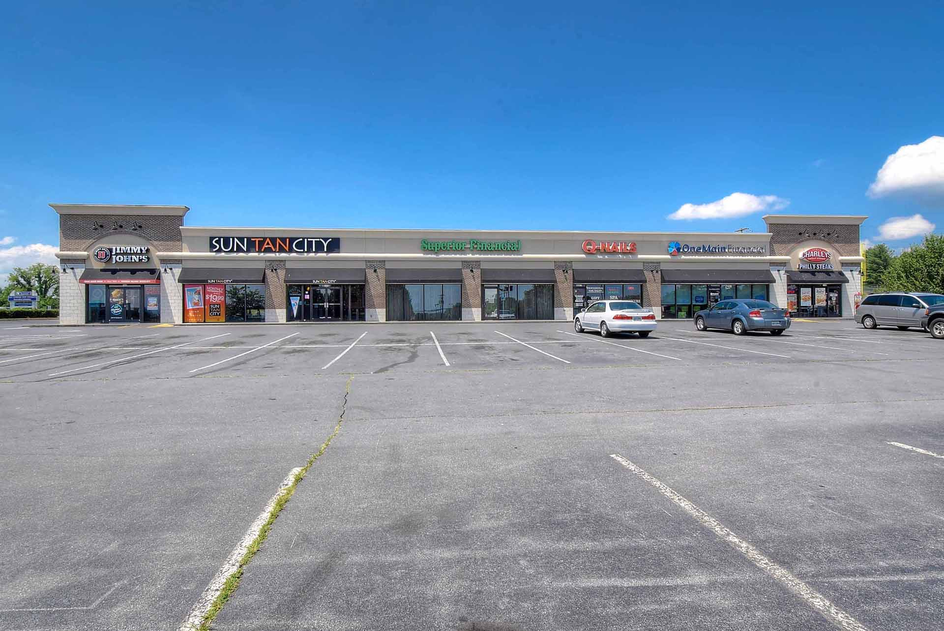 Retail properties for sale including Jimmy John's, Sun Tan City, Superior Financial, One Main Financial, and more